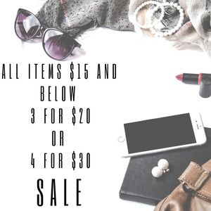 Bundle Sale - All Items $15 and below